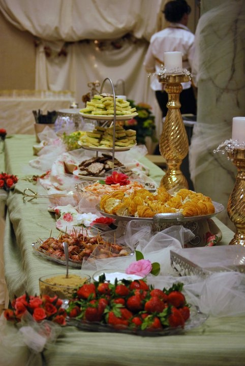 Food Table Decor. Wedding Reception