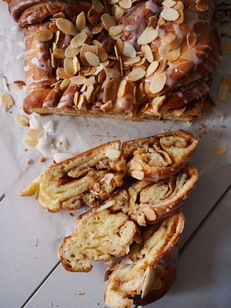 Almond and brioche praline twist