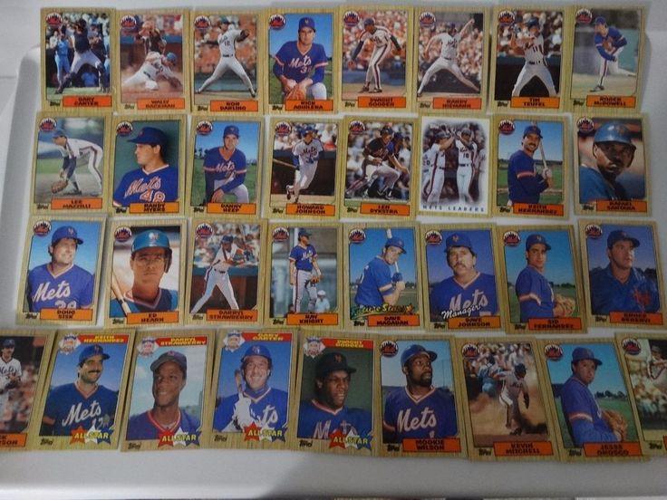1987 Topps New York Mets Team Set of 33 Baseball Cards #NewYorkMets