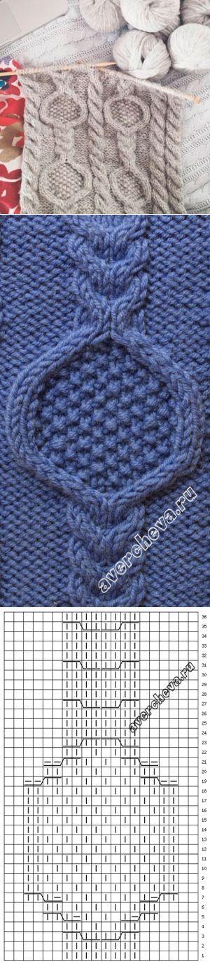 Узор к шарфу | каталог вязаных спицами узоров | Вязание спицами | Постила