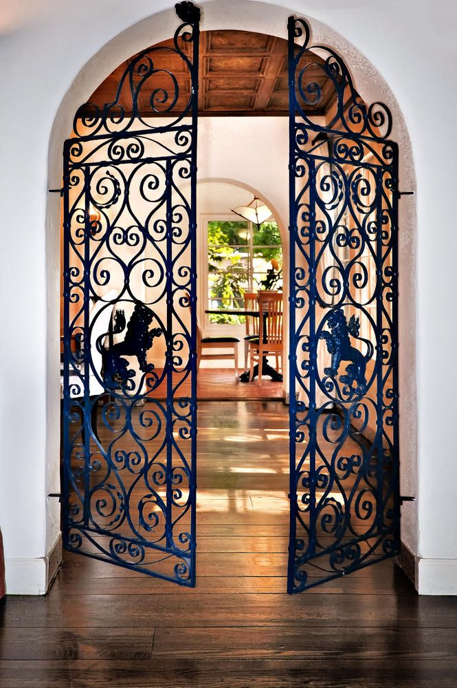 iron gate inside the main front door entering the living room