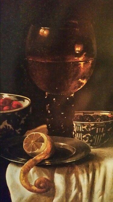 MARTIN NELLIUS  ( attivo a Leida nella seconda metà del '600 ). TAVOLO CON FRAGOLE E LAMPONI IN DUE CIOTOLE DI PORCELLANA, UN ROEMER E UN LIMONE SU UN PIATTO DI METALLO. olio su tavola. 42,5 × 37 cm.