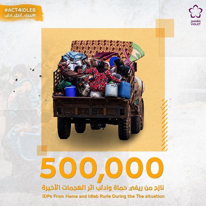 وصل عدد النازحين إلى 500 ألف شخص من شهر شباط وحتى الآن نسأل الله لهم السلامة والعودة القريبة المصدر منسقو الاستجابة Toy Car Monster Trucks Violet