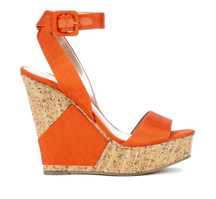 Holly wedge sandal in Clementine
