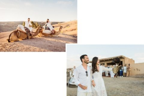 The designer duo married in Morocco...complete with multiple fetes–and falconry.