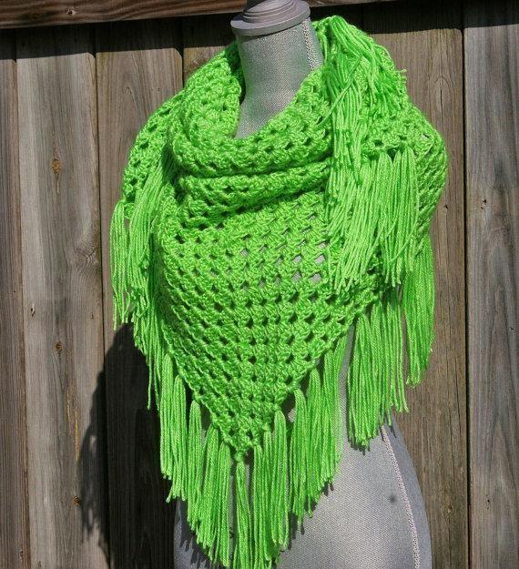 Beginner Crochet Shawl Triangle Triangle Shawl Or Scarf