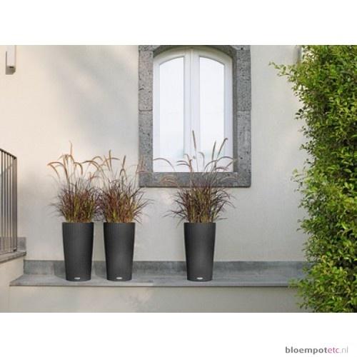 Lechuza Cilindro Cottage 23 Graniet Antraciet All Inclusive - Koop online bij Bloempotc.nl