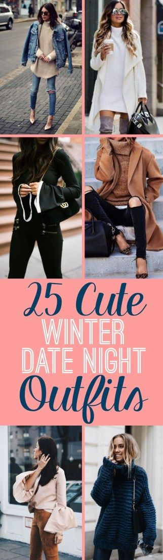 Cute winter date night outfits to wear on your next date! These ideas are perfect for casual or fancy dates in the chilly weather!