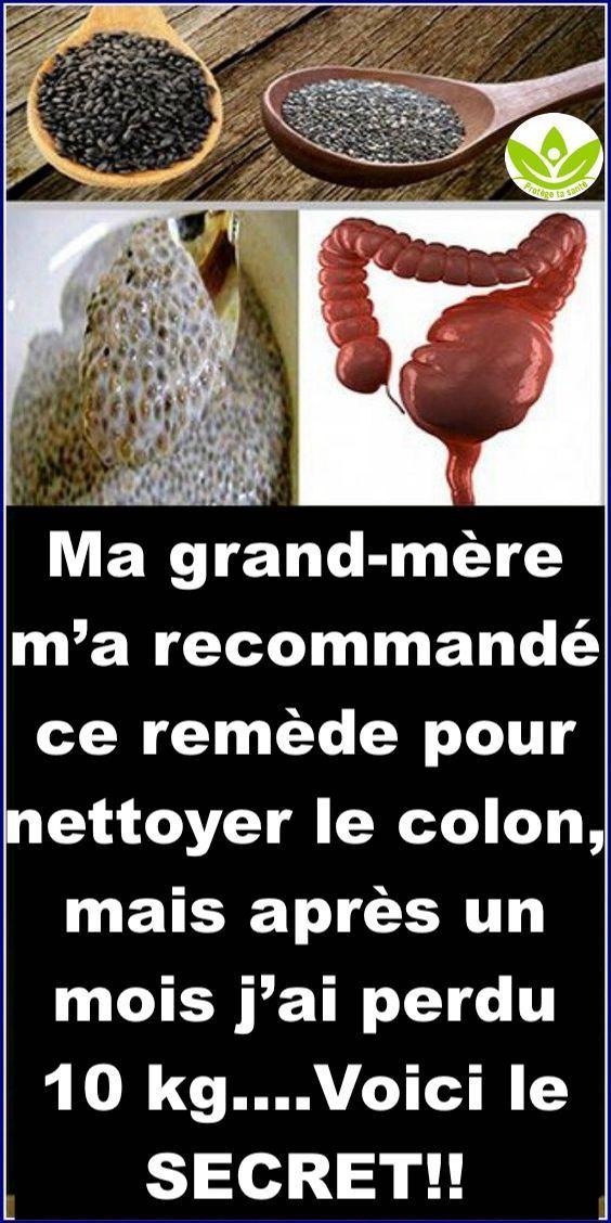 Remède SECRET pour nettoyer le colon et perdre jusqu'à 10 kg en un mois !!