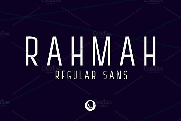 RAHMAH SANS by Ijemrockart on @creativemarket