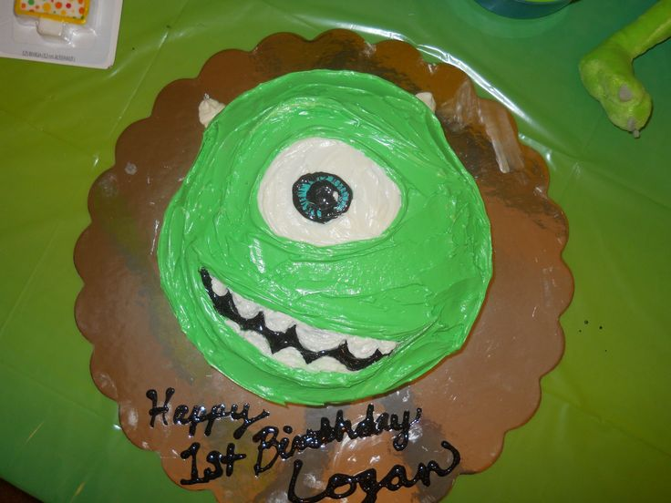 Mike Wazowski Cake  Monster s Inc  Monsters University ThemeMonster University Mike Wazowski Cake