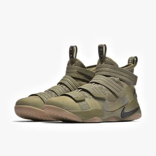 65e20b22649 Nike LEBRON SOLDIER XI SFG Mens Basketball Shoes 10.5 Medium Olive 897646  200  Nike  BasketballShoes