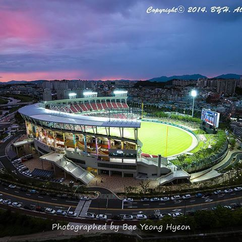 KIA Champions Field, 2014 @Gwangju #Korea#기아타이거즈#baseball#Tigers#야구장#NikonD800#stadium#nightscape