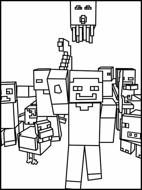 minecraft 15 ausmalbilder für kinder malvorlagen zum