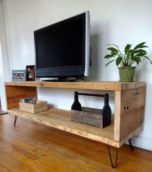 rack de madeira moderno