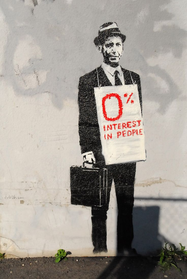 0% Interest In People, Adelaide Street, Toronto, Canada, 2010, by Banksy. This piece has since been painted over.