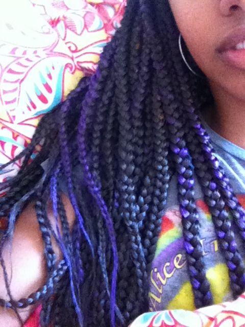 IGottaFindPeaceOfMind — Purple box braids :)
