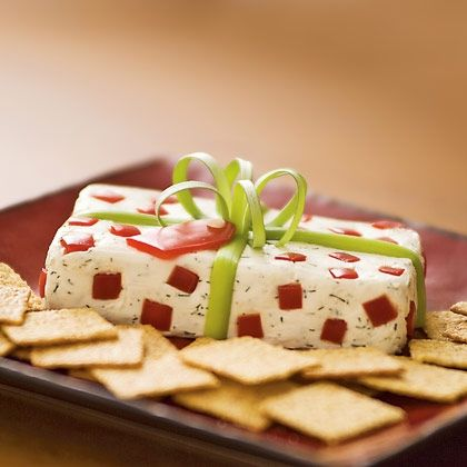 Christmas Package Cheese Appetizer