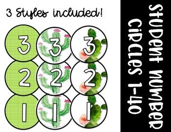 These number circles are perfect for any cactus or succulent themed classroom. Included are number circles 1-40 in 3 different styles. If you own my succulent themed classroom decor bundle, these are included in that download.