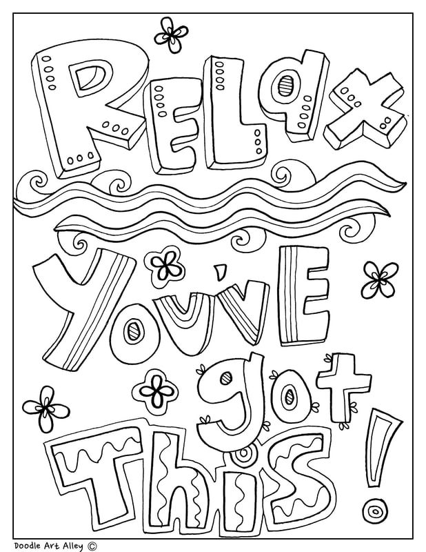 Free And Printable Quote Coloring Pages Perfect For The Classroom Rhpinterest: Doodle Art Coloring Pages School At Baymontmadison.com