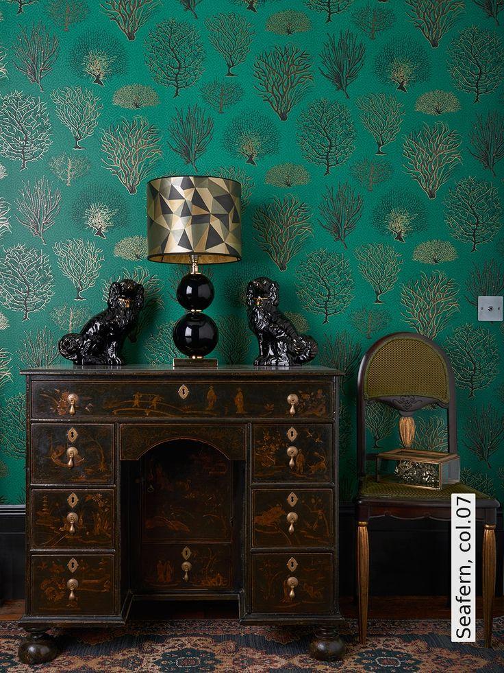 Die besten 25+ Grüne tapete Ideen auf Pinterest Tapetenmuster - wohnzimmer tapete grun