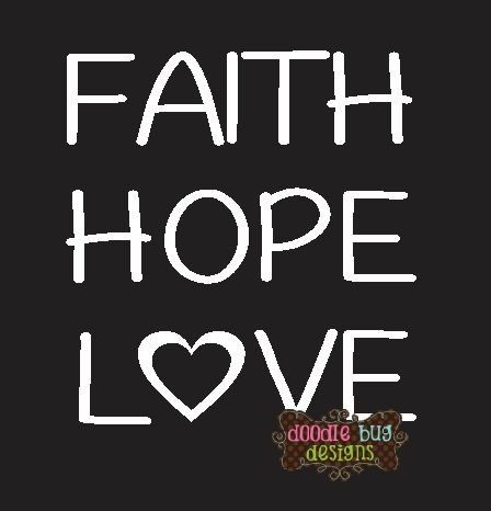 Faith hope love vinyl decal fundraiser pack great idea for an adoption fundraiser