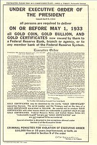 Executive Order 6102 - FDR Gold Confiscation And this can happen ANY time the president wants