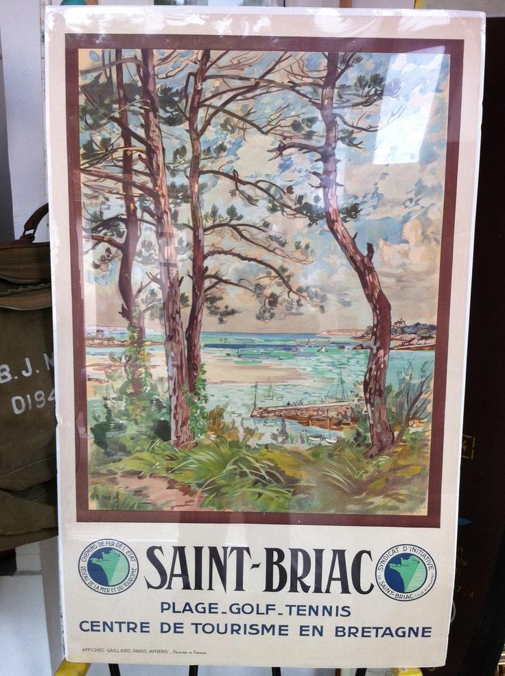 Affiche originale des ann es 20 de l 39 office de tourisme de - Office de tourisme de grande bretagne en france ...