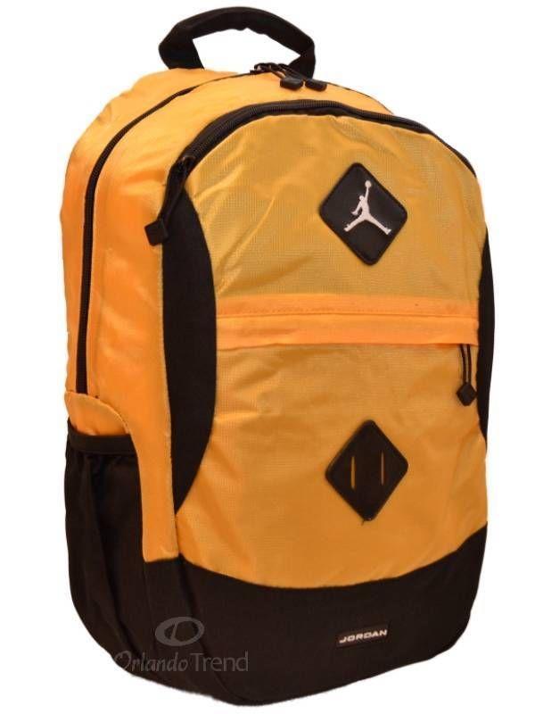 Nike Air Jordan Backpack Gamer Black Yellow Gold Bag Laptop Tablet Bag  Sleeve . ... 29e0573b65