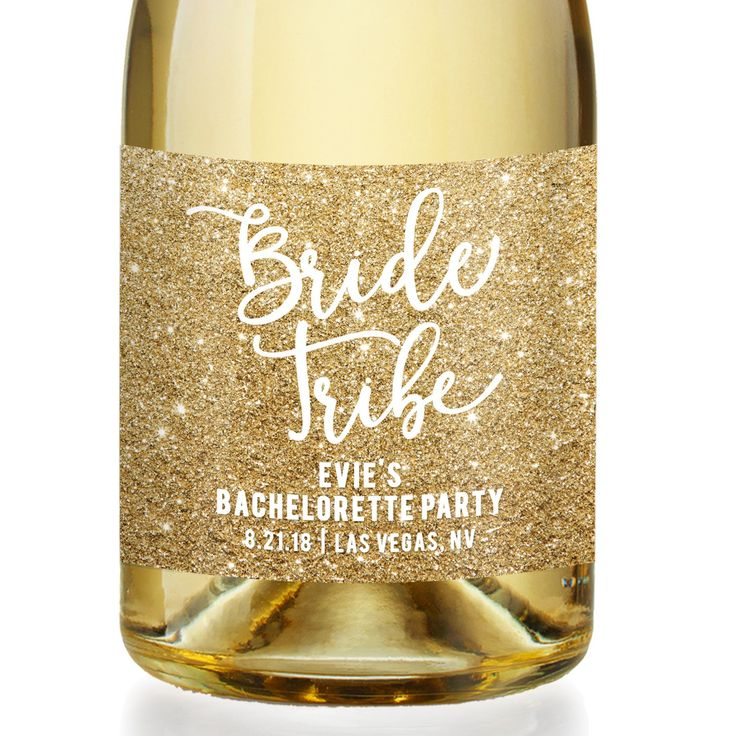 Evie Bridesmaid Gift CHAMPAGNE LABEL Bachelorette Party Bride Tribe Bridal Party Gift Bride Tribe Party Gift Bachelorette Gift Bridesmaids