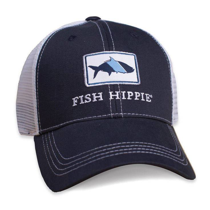 Fish hippie trucker hat fish hippie accessories for Fishing trucker hats
