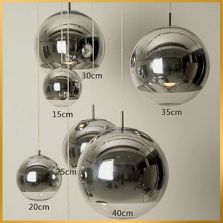 Ø15,20,25,30,35,40cm Tom Dixon Chrome Mirror Ball Pendant Lamp Chandelier Light