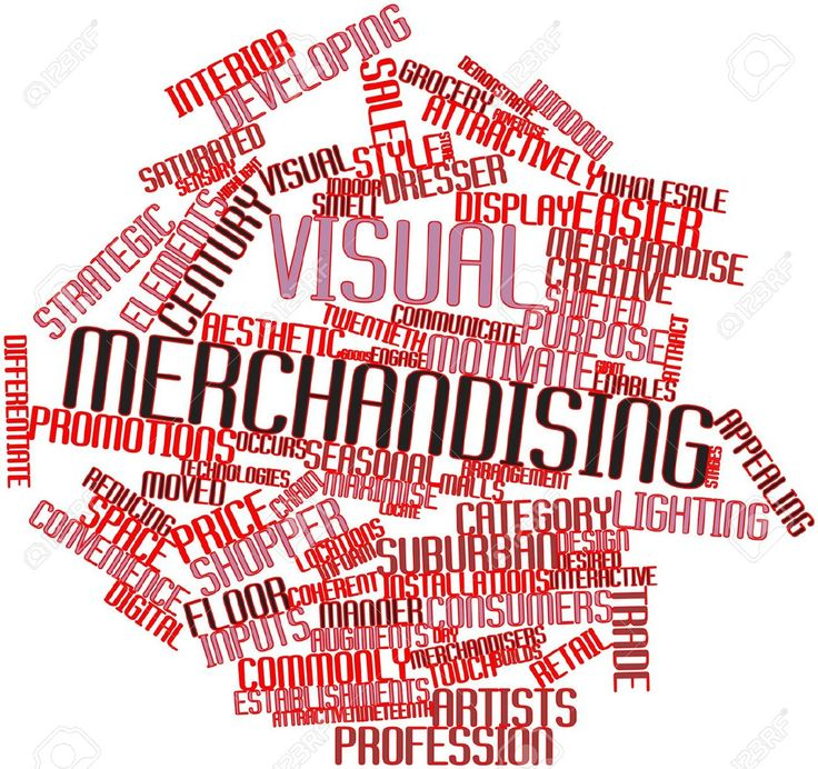Abstract Word Cloud For Visual Merchandising With Related Tags ...