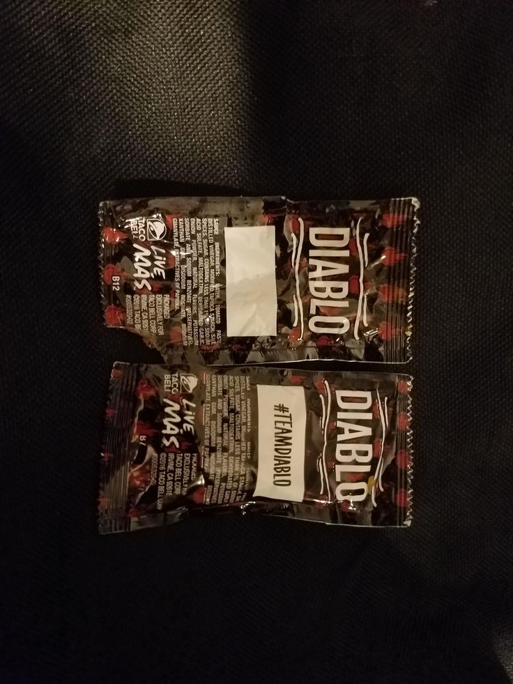 One of my Taco Bell hot sauce packets didn't have anything printed in the text box