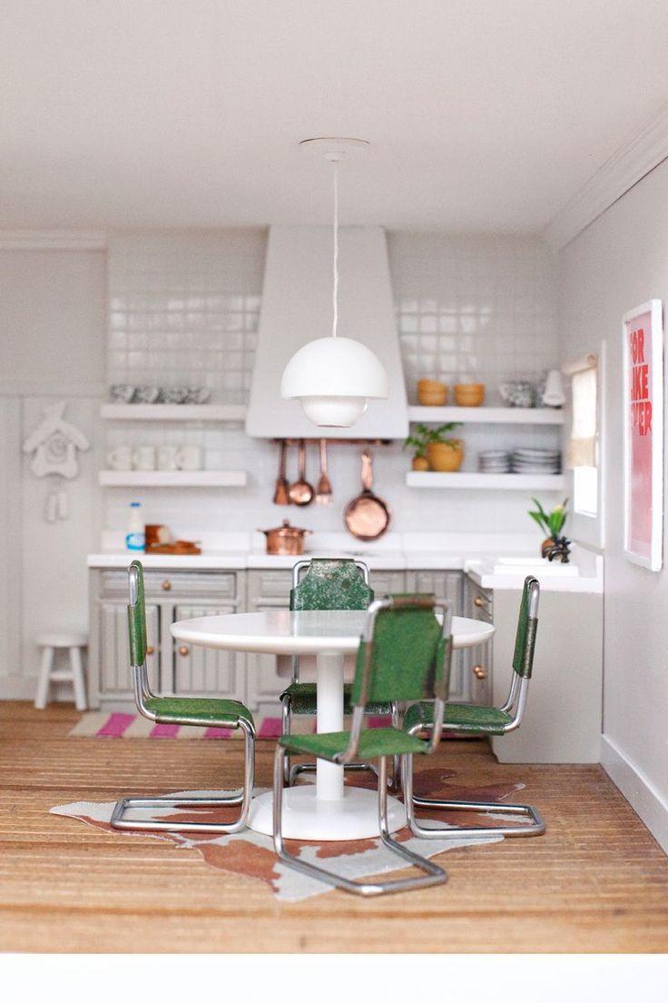 Modern #dollhouse Miniature Kitchen