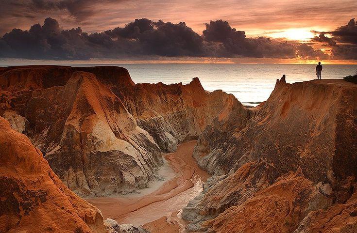 Praia de Morro Branco em Beberibe, Ceará