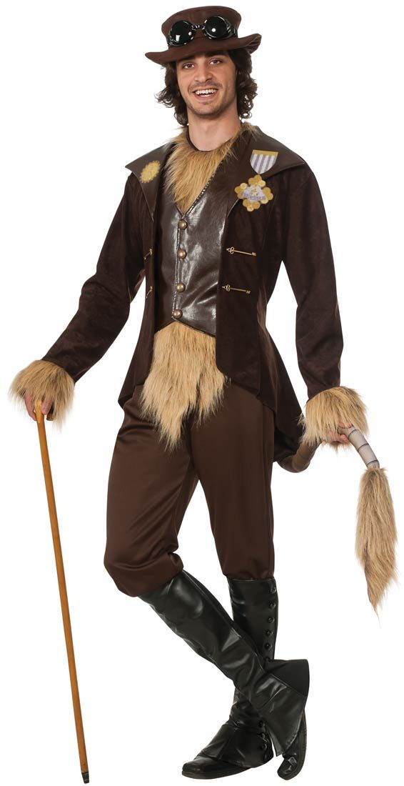 Adult Steampunk Cowardly Lion Costume | Costume Craze