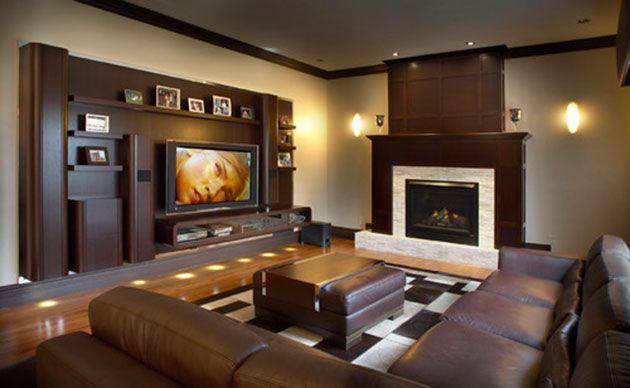 De Que Color Pintar Las Paredes Del Salon Con Muebles Marrones Muebles De Madera Oscura Muebles De Tablaroca Muebles