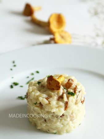 Risotto à la dinde et aux girolles - MADE IN COOKING