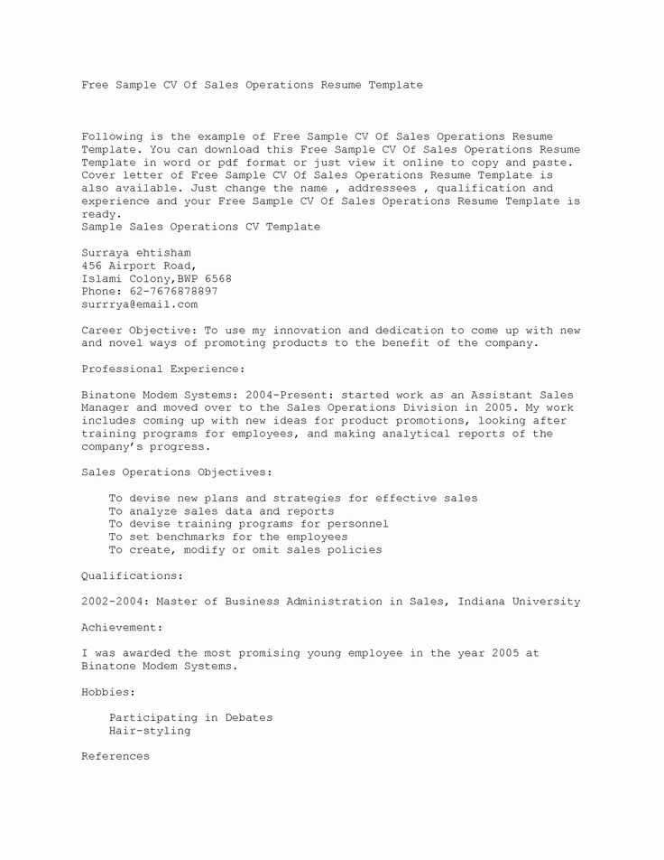 27 Plain Text Resume Example in 2020 Resume template