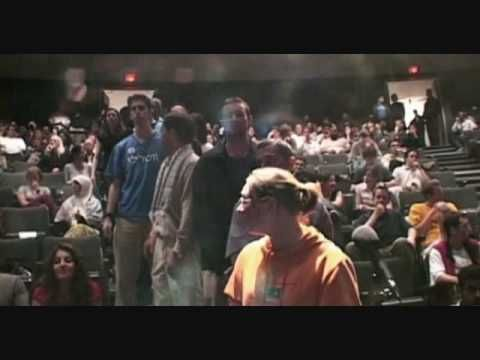 Dr. Norman Finkelstein at the University of Waterloo. I have a lot of respect for the way this man reacted to the girl's question.
