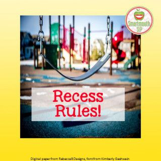 Recess rules blog on using videos to work on the hidden rules of the playground, and strategies to teach play skills.