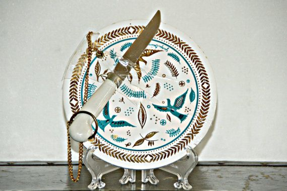 Georges Briard Paradise Bird Cheese Plate with by BukuVintage