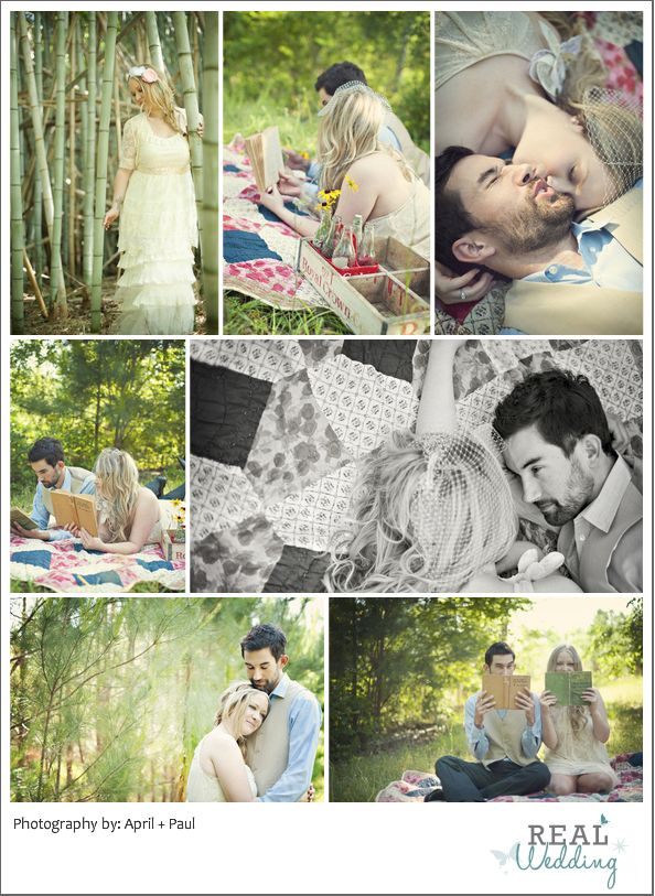 what an adorable, vintage (engagement) photo shoot