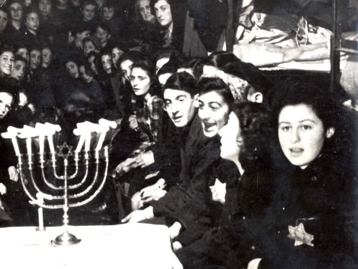 "remember the story in Yaffa Eliach's ""Chassidic Tales of the Holocaust"" of the Bluzhover Rebbe lighting the Chanukah light in Bergen Belsen. It was after a selection and the live skeletons gathered near the pile of newly massacred. The story, as the photo below, is testament to the strength of the human spirit and the strength of the Jewish people"