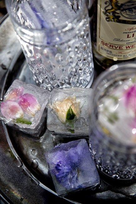 Edible Flower Ice Cubes!