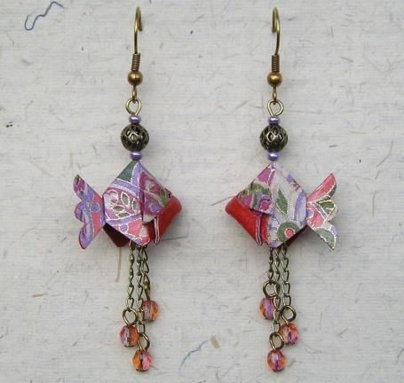 Boucles d'oreilles POISSON origami €18.00