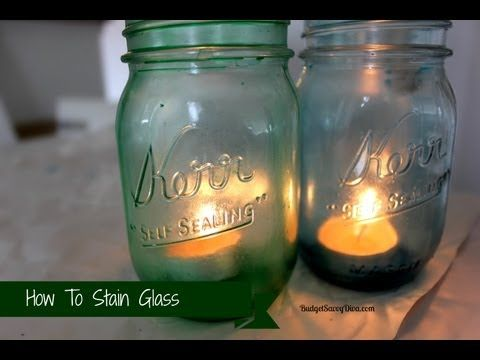 Best 25 staining mason jars ideas on pinterest tinting for Best paint to use on glass jars