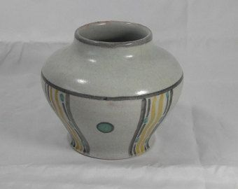 Early 1920 Carter Stabler Adams Poole Pottery Vase Marked CE and seagull Ethel Barnet nr653