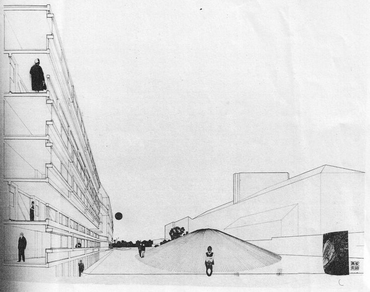 Robin Hood Gardens / Alison and Peter Smithson: one of my favourite drawings ever!